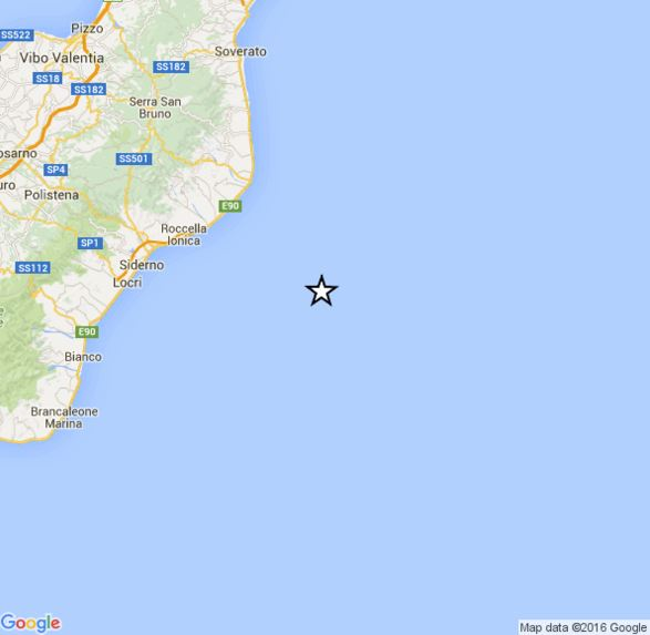 Terremoto oggi Calabria: scossa di magnitudo 3.9 Richter distintamente avvertita