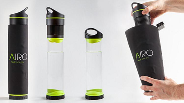 Bottiglia che trasforma l'aria in acqua, strepitosa invenzione
