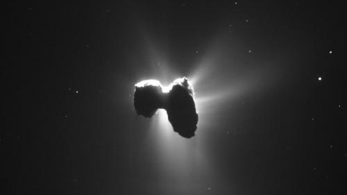 Spazio: la sonda Rosetta cattura una cometa illuminata dal Sole