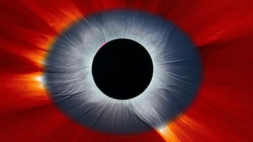 NASA: eclissi solare totale dell'8 Marzo in un'immagine composita