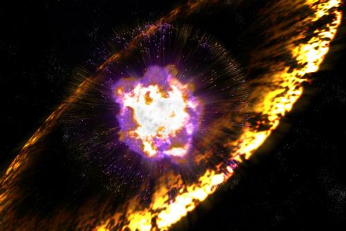 Esplosioni di supernove provocarono piogge radioattive