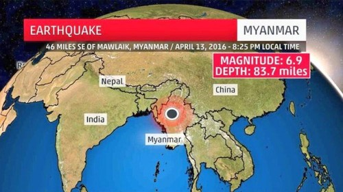 Terremoto Birmania: forte scossa avvertita in India e Cina