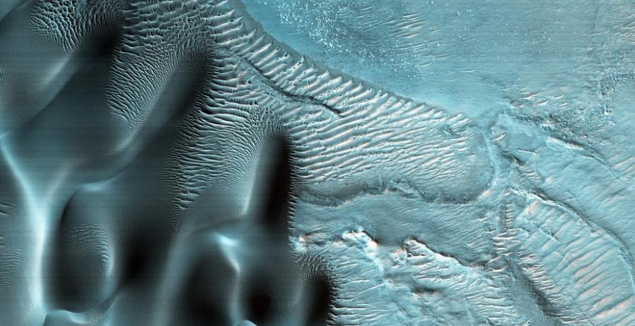 Marte: le immagini di Nili Fossae, l'area di colore blu
