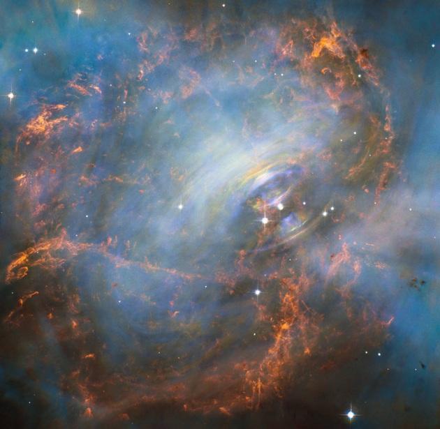 Nebulosa del Granchio: la potente pulsar nello scatto di Hubble