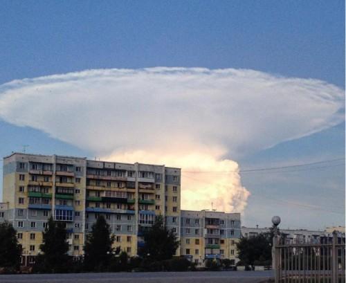 Siberia: nuvola a forma di fungo scatena il panico