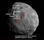 Marte: l'immagine in dettaglio della luna Phobos