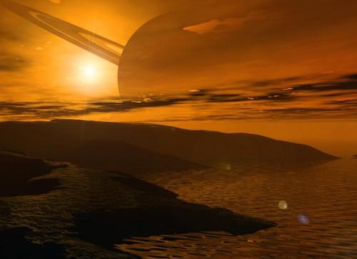 Titano: le colline e i canyon della luna di Saturno ripresi da Cassini