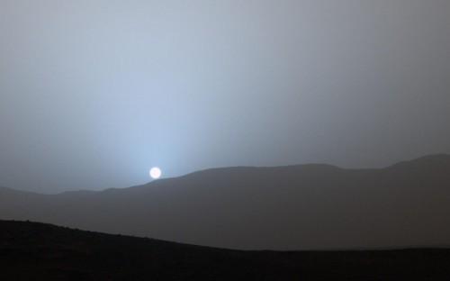 Marte: fotografato il tramonto sul pianeta rosso