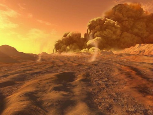 Allerta meteo su Marte: dal 29 ottobre in arrivo tempeste