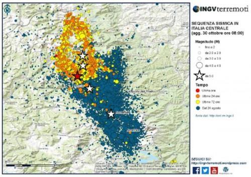 Terremoto Centro Italia: terreno sprofondato di 70 centimetri