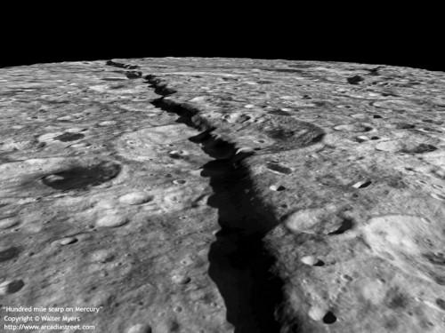 Mercurio: scoperto enorme canyon sulla superficie