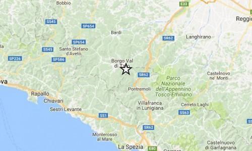 Terremoto, sei scosse in provincia di Parma e Massa Carrara