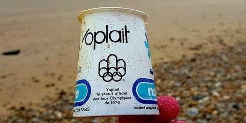Inquinamento da plastica: vasetto di yogurt intatto dopo 40 anni