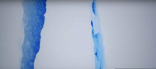 Antartide: la spaventosa crepa sulla banchisa ripresa dal drone