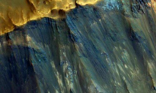 Marte: il MRO fotografa un pendio del pianeta rosso, immagini eccezionali