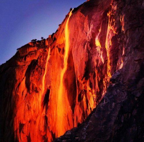 Cascate di fuoco: l'incredibile effetto delle Yosemite Falls
