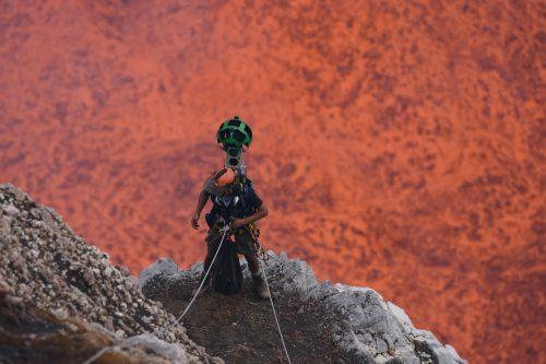 Google Street View nelle profondità di un vulcano: immagini incredibili