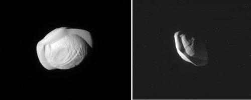 Pan, la speciale luna di Saturno ripresa da Cassini