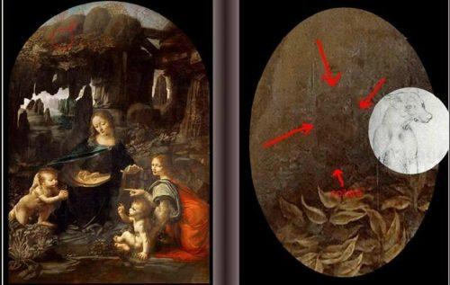 Un cane nella Vergine delle Rocce di Leonardo, la scoperta
