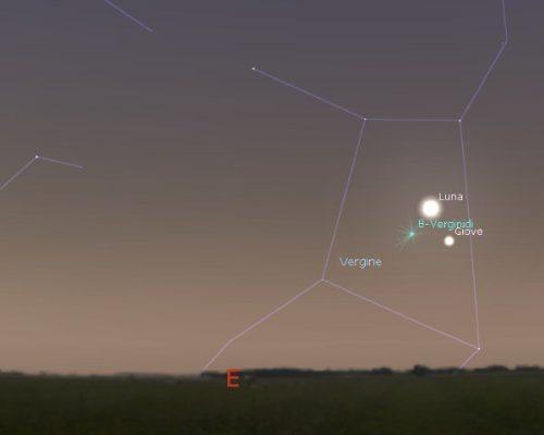 Congiunzione Giove, Luna e Spica e stelle cadenti: come osservare lo spettacolo