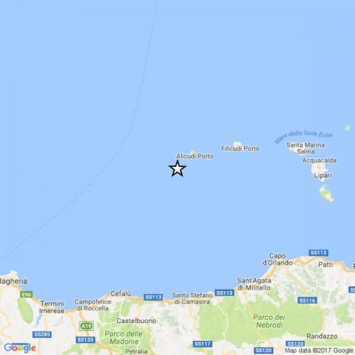 Terremoti alle Isole Eolie, tre eventi distintamente avvertiti