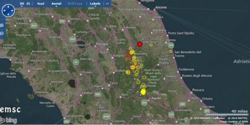 Terremoto Centro Italia 27 Aprile, due scosse di magnitudo 4.0 e 4.1 a Visso
