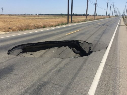 Sinkhole in California