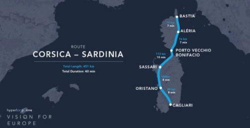 Hyperloop: il supertreno del futuro collegherà Sardegna e Corsica?