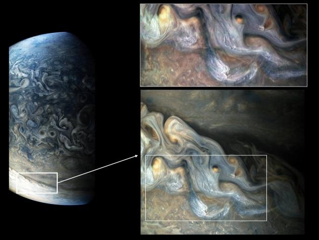 Giove: grandine nell'atmosfera del gigante gassoso? L'immagine di Juno