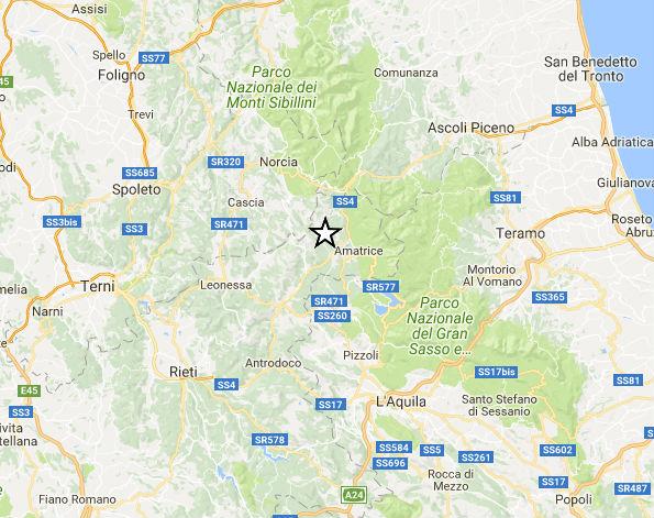 Terremoto Centro Italia: nuove scosse ad Amatrice e Cittareale