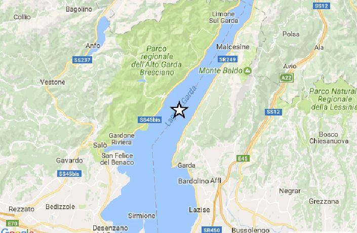 Terremoto tra Veneto e Lombardia: sisma M 3.6, epicentro nel Garda