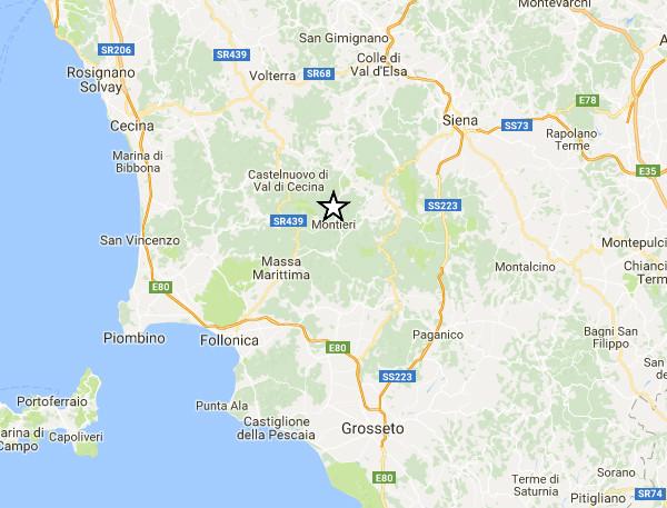Terremoto Toscana: scossa avvertita in provincia di Grosseto