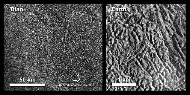 Titano: un 'labirinto' avvistato da Cassini sulla superficie della luna