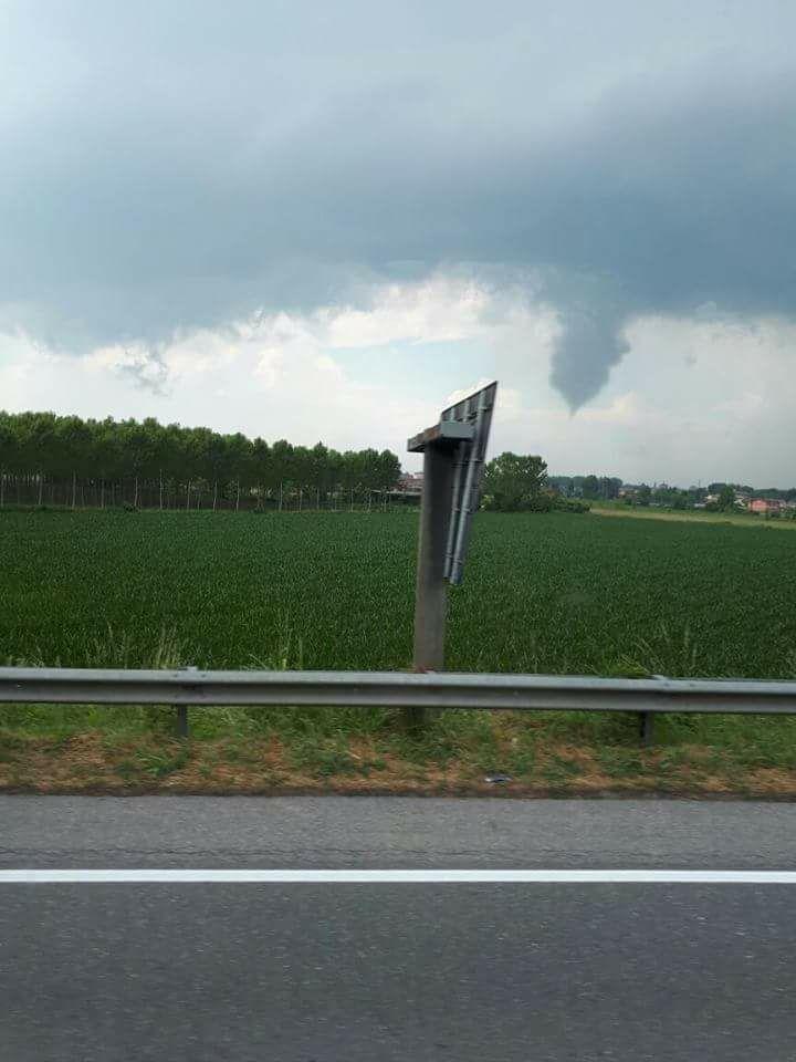 Tornado segnalato a Crema, Lombardia