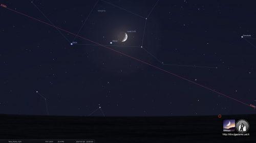 Congiunzione Luna Giove e delta Aquaridi: gli appuntamenti delle prossime ore
