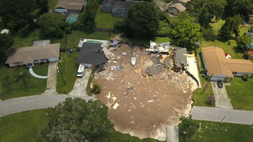 Florida: sinkhole inghiotte due case a Land O 'Lakes