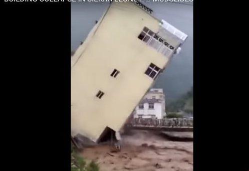 Alluvione in Sierra Leone: edificio crolla in fiume di fango