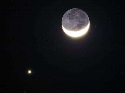 Congiunzione Luna Venere accompagnata dalle kappa Cignidi