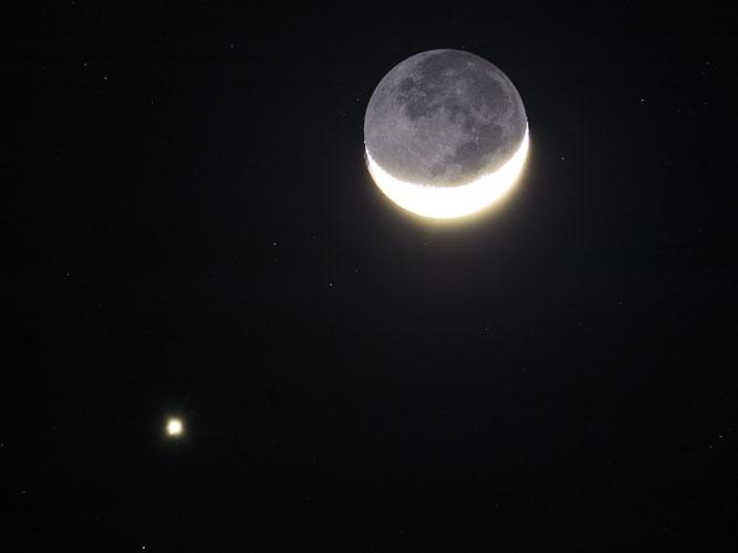 Congiunzione Luna Saturno: lo spettacolo di questa sera