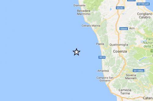 Terremoto Calabria: scossa di magnitudo 4.3 nel Tirreno