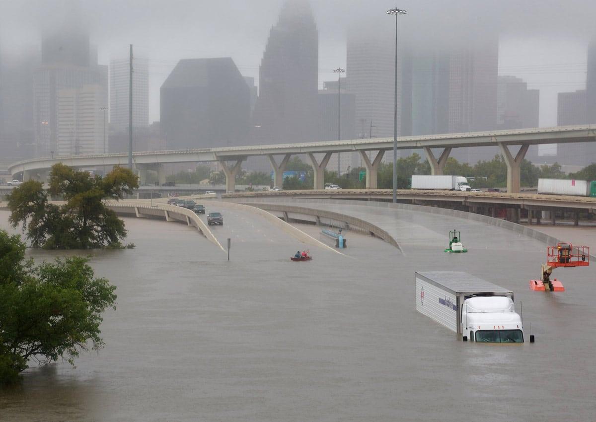 Uragano Harvey: satelliti italiani monitorano l'inondazione in Texas