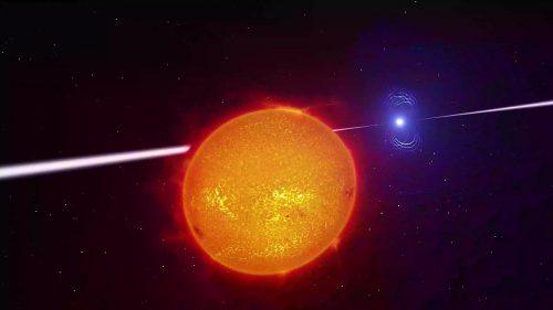 Nana bianca sta distruggendo una nana rossa nel sistema AR Scorpii