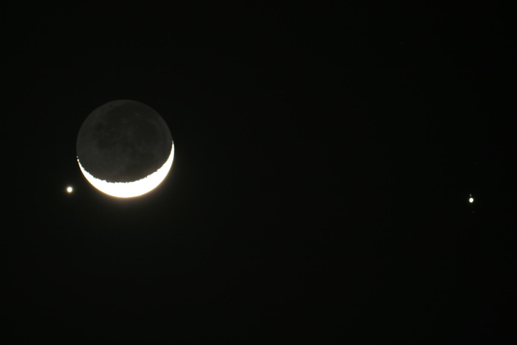 Congiunzione Luna Giove: poche ore allo spettacolo del crepuscolo