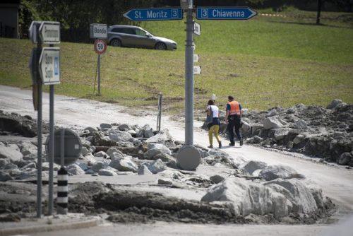 Svizzera: nuova colossale frana in Val Bregaglia, case distrutte e disagi
