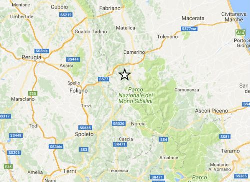 Terremoto Marche: sei scosse in pochi minuti nel maceratese