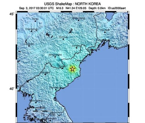 Corea del Nord: scossa di 6.3 gradi originata da esplosione nucleare