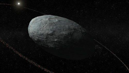 Scoperto un pianeta nano circondato da un anello di polveri