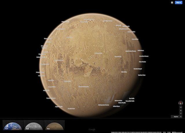 Google Maps: ora funziona anche con pianeti e satelliti