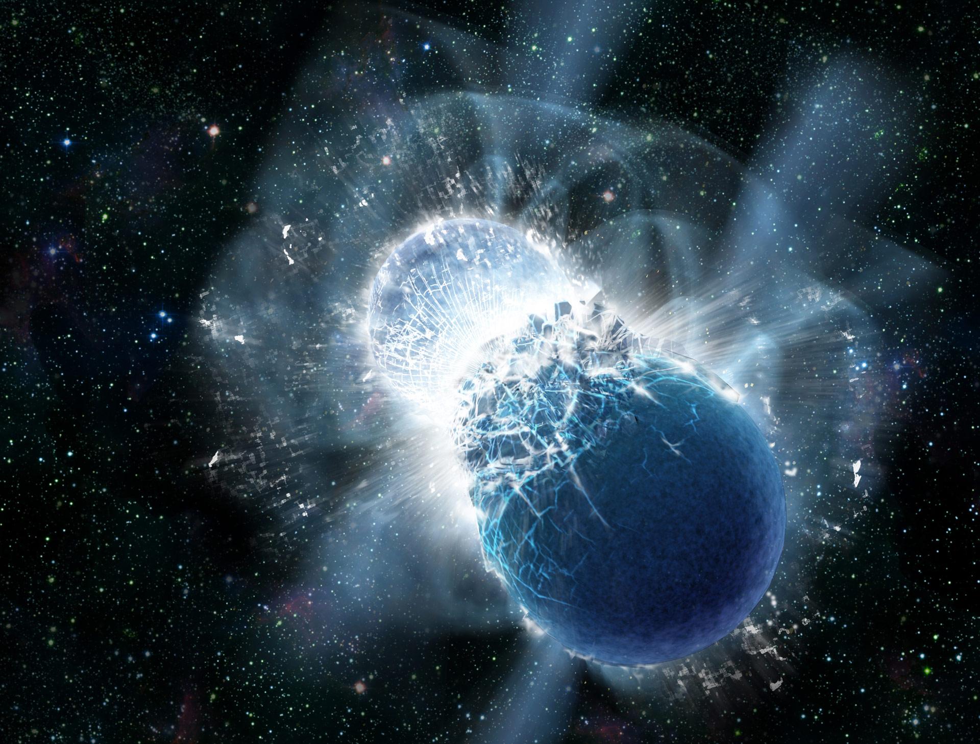 Osservata fusione tra stelle di neutroni e la nascita di una nuova stella