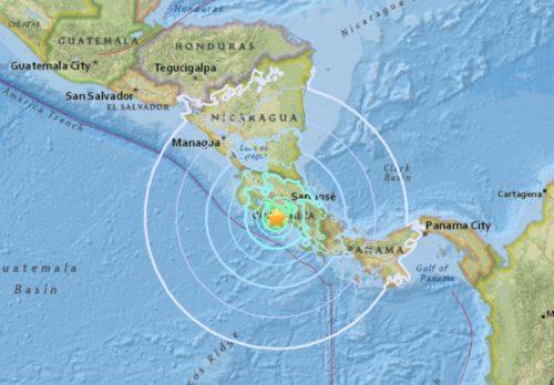 Terremoto Costa Rica: scossa di magnitudo 6.7